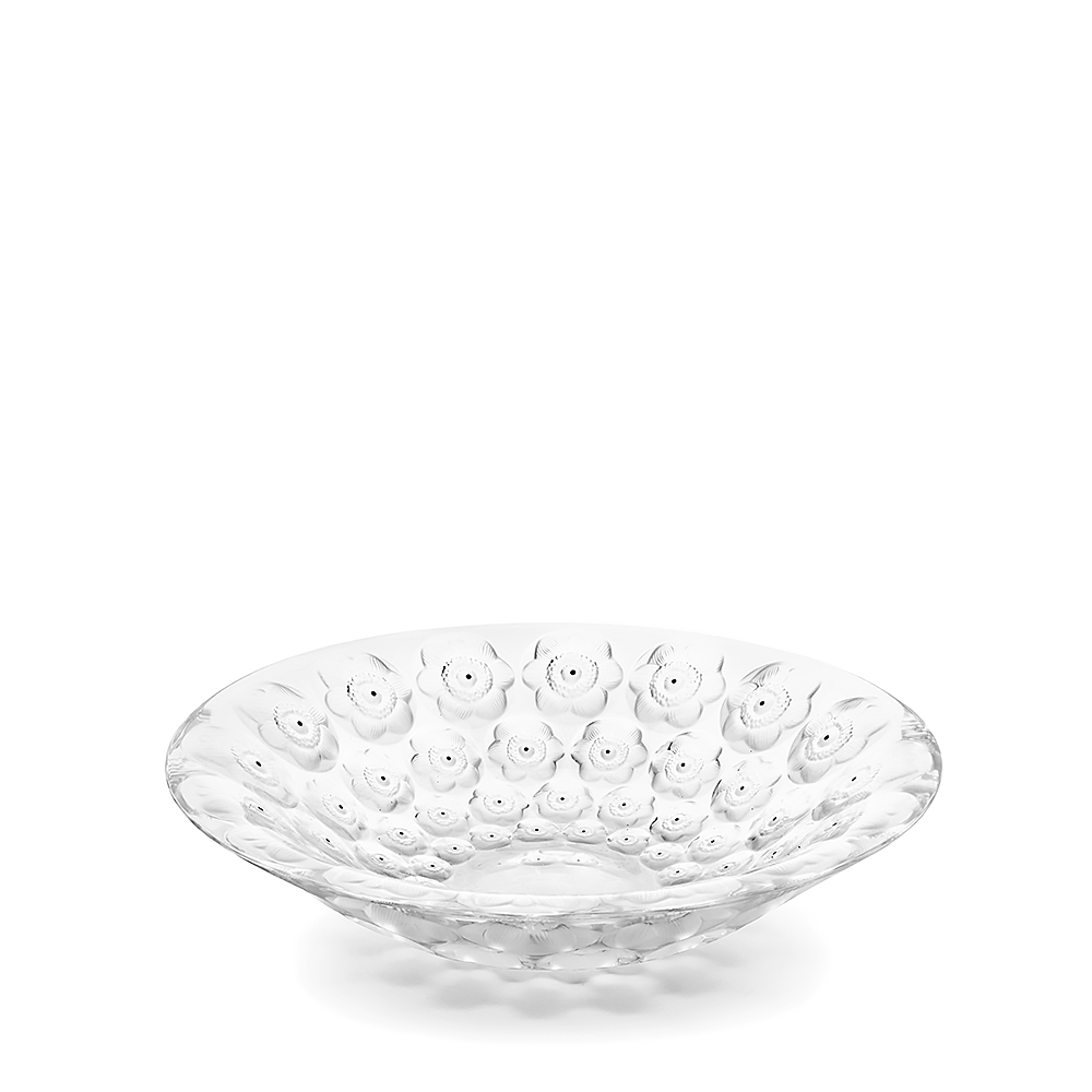 Coupe Lalique Anémones incolore collection 2016