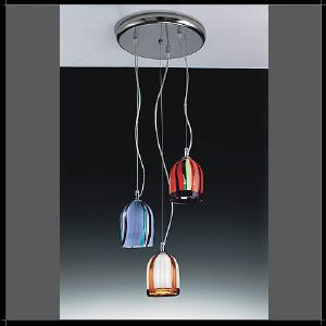Triple Suspension Murano Voltolina Collection Jacaranda