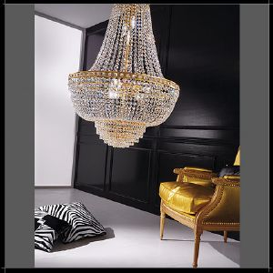 Lustre Mongolfiere Cristal Murano Voltolina Collection Amsterdam