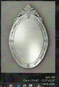 miroir venitien long ovale miroir verre venise miroir venitien ovale long. Black Bedroom Furniture Sets. Home Design Ideas