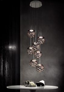 Luminaire Suspension Studio Italia modele Kelly sphere cluster 1,3,5 ou 7