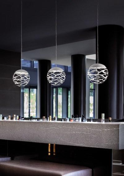 Luminaire kelly sphere suspension moderne boule kelly for Suspension contemporaine