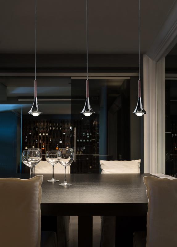 suspension rain sur rail luminaire moderne studio italia. Black Bedroom Furniture Sets. Home Design Ideas