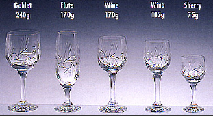 Collection 6 Verres Monica en Cristal de Pologne