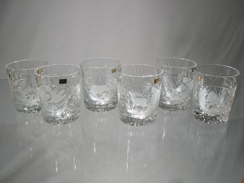 verres cristal chasse verres taille main chasse verre whisky chasseur. Black Bedroom Furniture Sets. Home Design Ideas