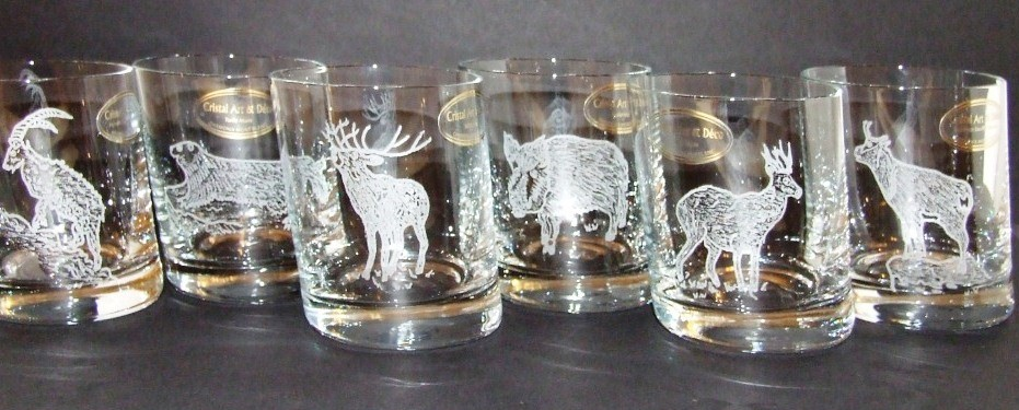 Verre whisky cristal chasse cristal art deco for Decoration en cristal