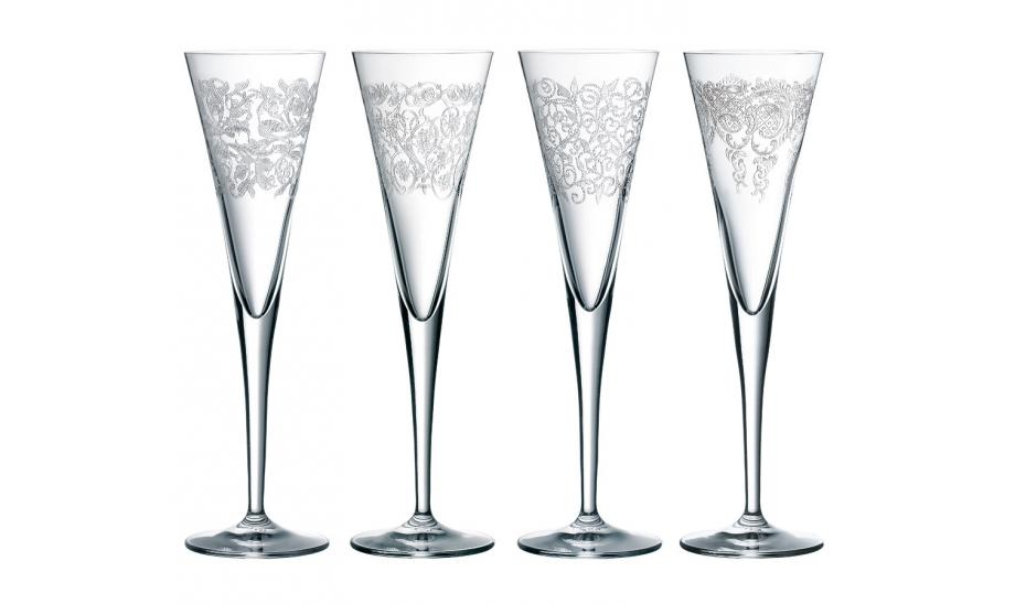 Flutes champagne cristal fl tes cristal art deco flutes cristal modernes arabesques - Flutes a champagne originales ...