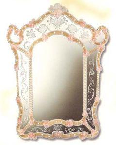 mirroir venitien decor fleur cristal art deco mirroir venitien decor fleur. Black Bedroom Furniture Sets. Home Design Ideas