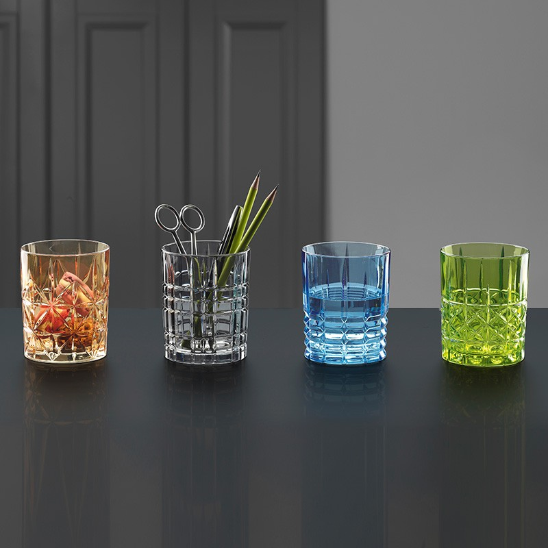 Verre Whisky cristal collection Highland coffret de 4 couleurs