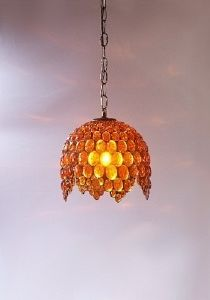 Lustre, Suspension en Ambre Campania Salerno