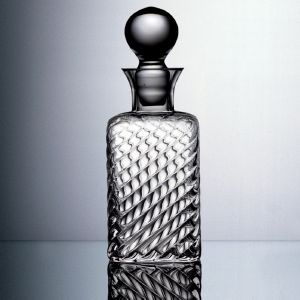 Carafe whisky carrée cannelée