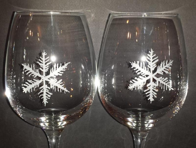 duo verre flocon de neige gravure flocon sur cristal duo verres flocon de neige. Black Bedroom Furniture Sets. Home Design Ideas