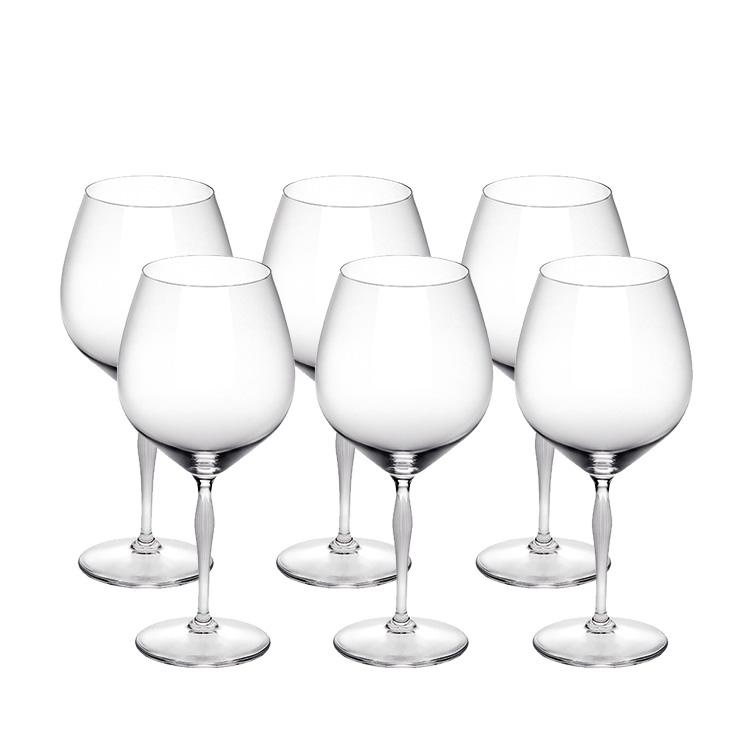 lalique cristal verres bourgogne 100 points 6 verres. Black Bedroom Furniture Sets. Home Design Ideas