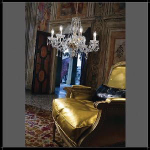 Lustre Chandelier Cristal Murano Voltolina Collection Toledo