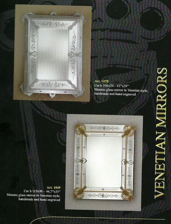 Miroir venitien cristal authentique miroir venise for Miroir bordure doree
