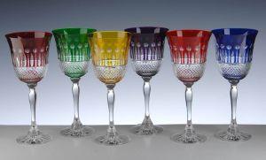verres de couleurs en cristal  Els Benvinguts