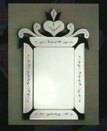 Miroir venitien murale miroir verre venise miroir for Miroir venitien rectangulaire