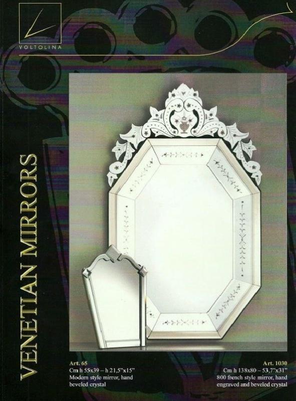 Miroir venitien moderne miroir verre venise gravure fine for Miroir venitien murano