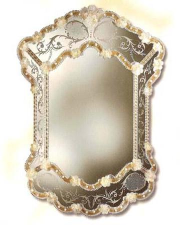 Miroir venitien miroir cristal miroir venitien decor fin for Miroir venitien murano