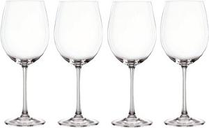 Coffret 4 verres à vin bordeaux en cristallin collection Vivendi