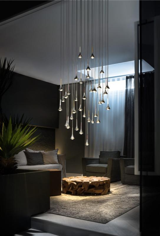 suspension multiple rain metal luminaire moderne studio italia suspensions moderne rain multiple. Black Bedroom Furniture Sets. Home Design Ideas