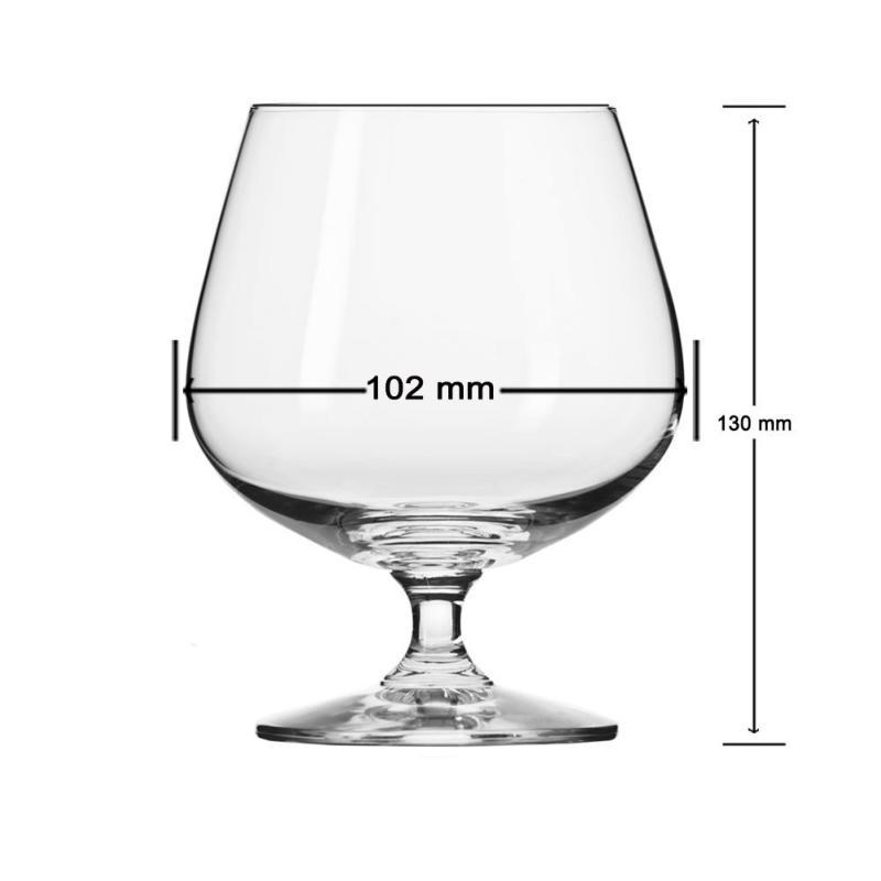 Coffret 6 Verres à cognac en cristal collection Vivat 48cl