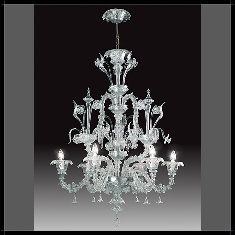 murano lustre fleur cristalartdeco murano lustre murano lustre fleur. Black Bedroom Furniture Sets. Home Design Ideas