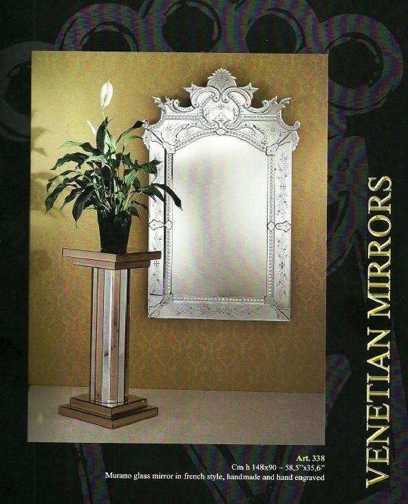 Miroir venitien octogonale miroir verre venise grave for Miroir venitien murano