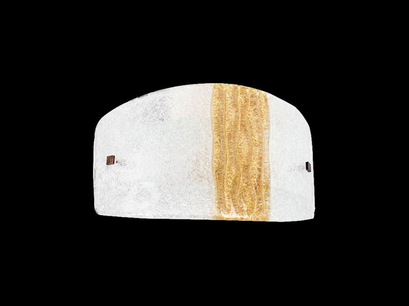 Applique murale syberia verre cristal ambre applique syberia or