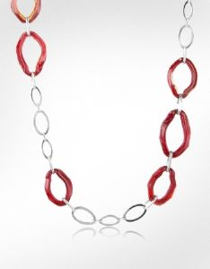 Collier Sautoir Antica Murrina Brooklyn Rouge