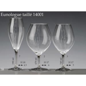 Collection Verre Cristal Paris Oenologue rond uni ou taillé